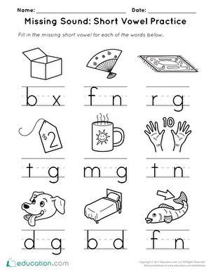 vowels worksheets education
