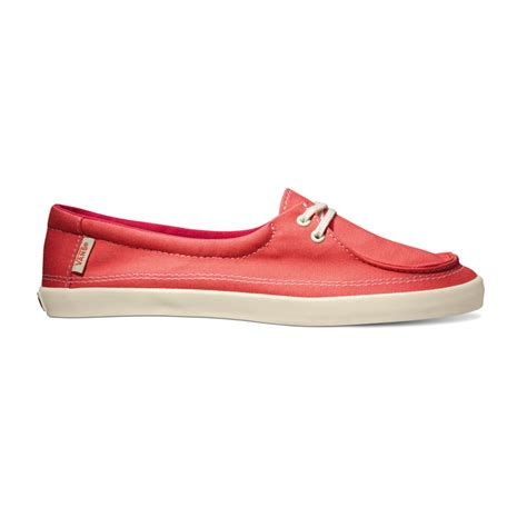 Red Vans Boat Shoes by Vans Womens Rata Lo Summer Deck Boat Shoes Beach Slippers