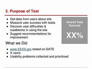 usability testing report template With usability study template