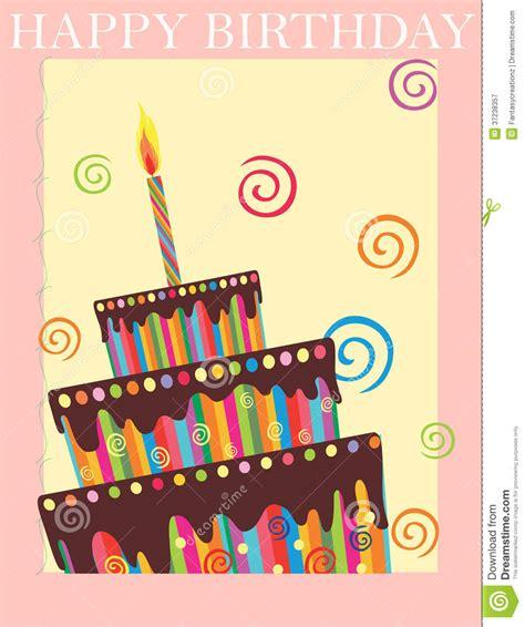 Happy Birthday background stock vector Illustration of