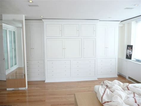 Large Wardrobe Wall Unit by Nyc Custom Built Bedroom Walk In Reach In Closets