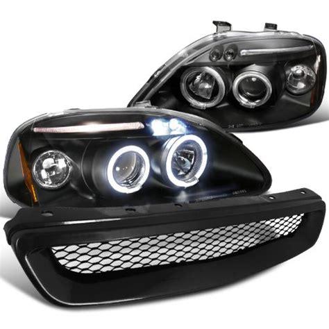 Honda Civic Modification Dubai by Honda Civic Black Led Halo Projector Headlights Type R