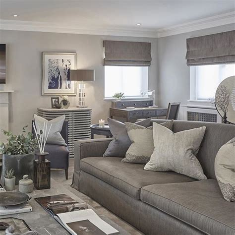 Taupe Gray Living Room by Grey Blue And Taupe In The Rustic Chic Esher Project