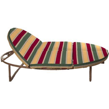 mainstays outdoor orbital double lounger cushion set