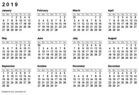 calendar  page calendar yearly printable