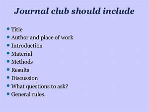 how to present a journal club With journal club powerpoint template
