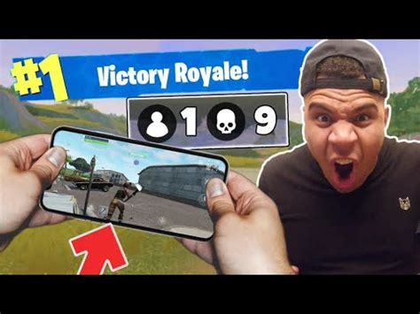 world record insane fortnite mobile gameplay  phone
