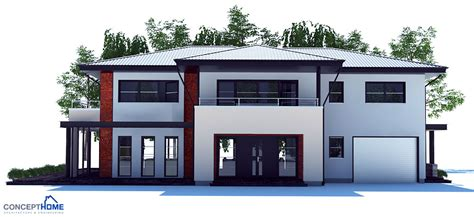 House Plans With Big Bedrooms by Large Modern House Plan With Four Bedrooms House Plan