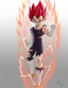 Vegeta super saiyan god by kakarotoo666 on DeviantArt