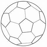 Soccer Coloring Ball Printable sketch template