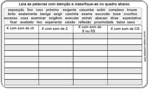 ch x atividades educativas de ortografia x e chsala de atividades