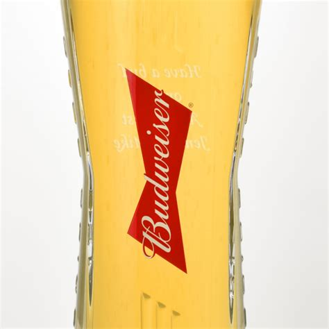 personalised budweiser pint glass