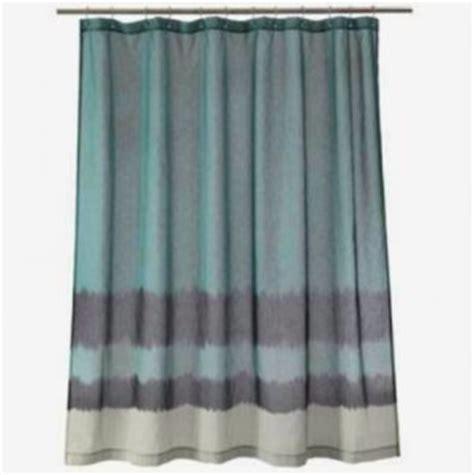 Nate Berkus Linen Curtains by Nate Berkus Dip Dyed Aegean Sea Blue Fabric Shower Curtain