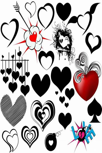 Photoshop Heart Vector Hearts Graphics Brushes Clipart