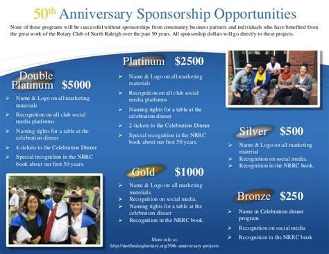 Sponsorship Brochure Template by 50th Anniversary Sponsorship Brochure