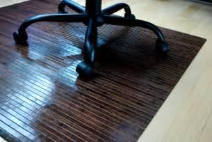 bamboo chair mat rug hardwood floor protector office wood gift idea wood 57 60 gift