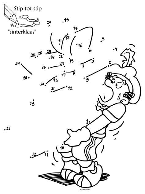Puzzel Kleurplaat by Kleurplaat Stip Tot Stip Sinterklaas Puzzel