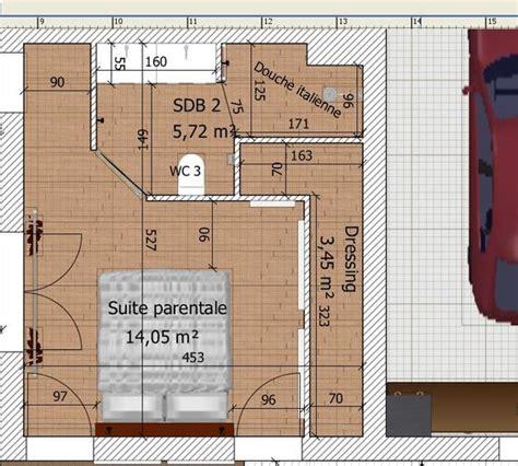 plan chambre parentale suite parentale dans moins de 15m2 chambre adulte
