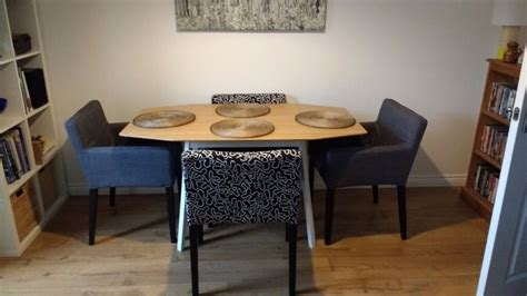Ikea Nils Dining Chairs X 4 With Covers