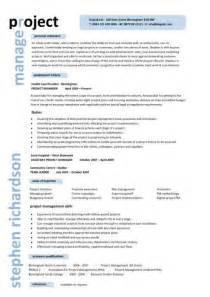 resume australia model it project manager cv template project management prince2 cv exle resume erp