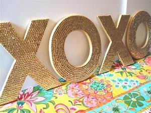 twisted twig sequin letters glitter guide With sparkly wooden letters