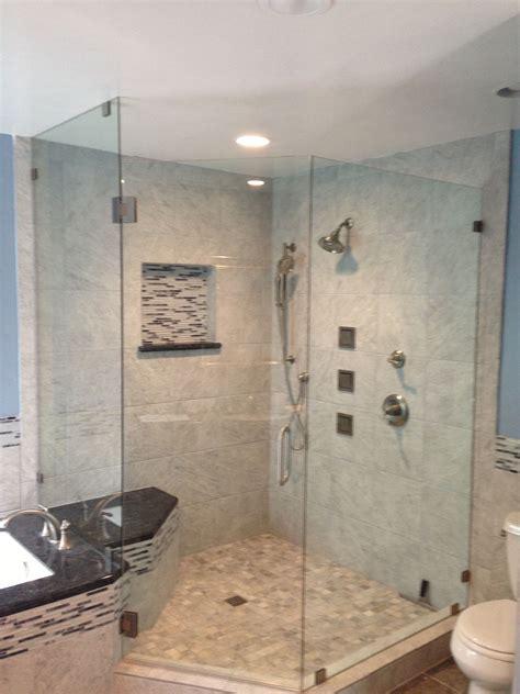 Shower Bath With Jets by Corner Shower With Kohler Luxury Jets Bathroom In