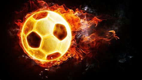 soccer fire ball football hd wallpapers