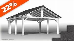 Carport Aluminium Bausatz : bausatz 4 5 x 6 0m satteldach carport mit bitumenschindeln ~ Orissabook.com Haus und Dekorationen