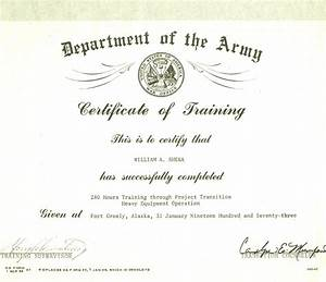 army certificate of completion template - certificate of achievement wording