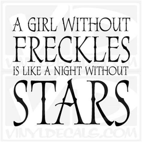 vinyldecalscom  girl  freckles vinyl wall decal