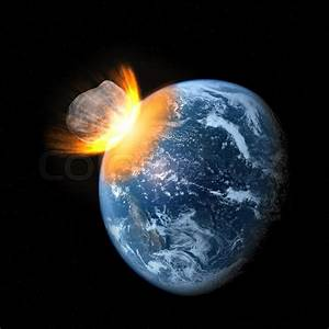 Collision of an asteroid with the Earth | Stock Photo ...