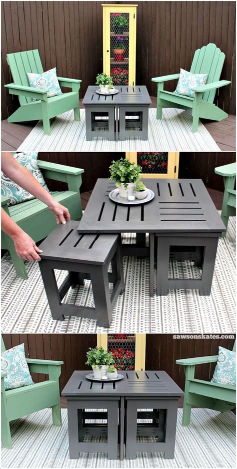 diy outdoor coffee table ideas