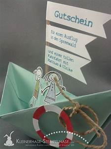 Gutschein Geschenke Verpacken : stampin up gutschein bootsfahrt spreewald 02 kleinerhase stempelnase pinterest gutscheine ~ Watch28wear.com Haus und Dekorationen