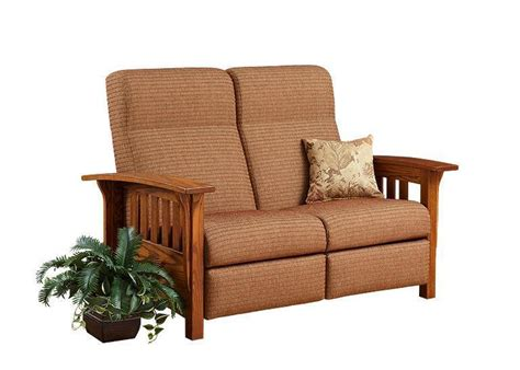 Mission Loveseat Recliner by American Mission Reclining Loveseat Sofa From