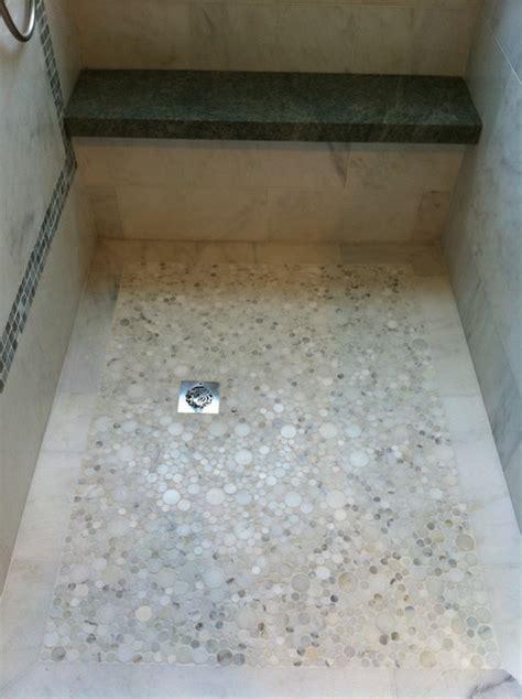river rock bathroom ideas marble shower floor contemporary bathroom los