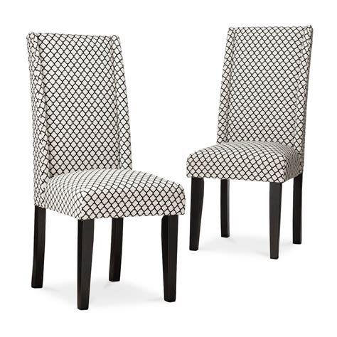charlie modern wingback dining chair set of 2 ebay