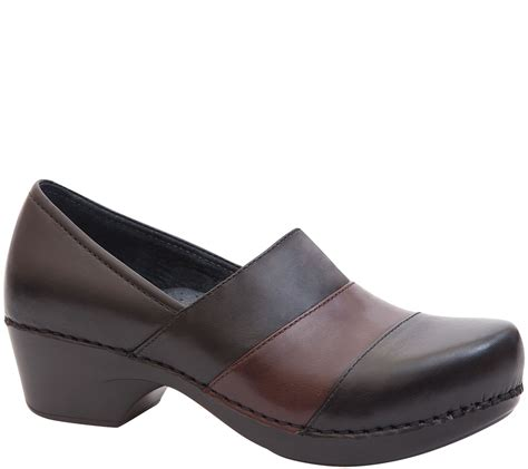 dansko closed  leather clogs tenley page  qvccom