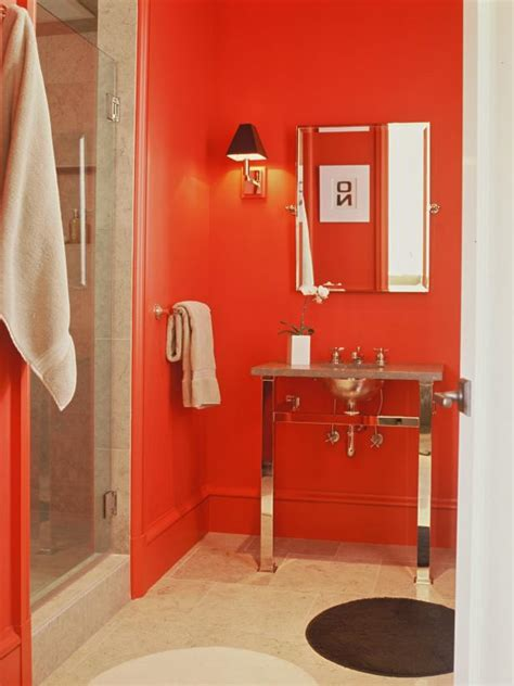 red bathroom decor pictures ideas tips  hgtv hgtv