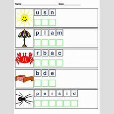 Easy Word Scrambles For Kids  Loving Printable