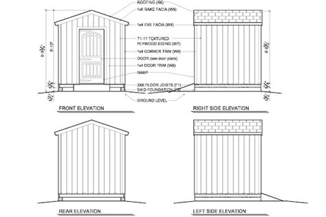 8x8 Shed Plans Pdf by 8x8 Shed Plans How To Build Diy By