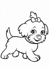 Coloring Puppy Pages sketch template