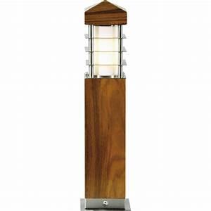 Luminaire Exterieur D Angle : inspire dax borne teck luminaire d 39 ext rieur tous ~ Edinachiropracticcenter.com Idées de Décoration