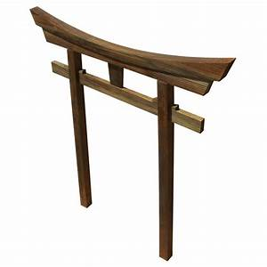 SamsGazebos Miniature Brown Japanese Shinto Temple Torii
