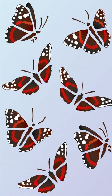 red admiral butterfly stencil  henny donovan motif