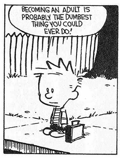 Funny Calvin Hobbes Meme Growing Quotes Sandbox