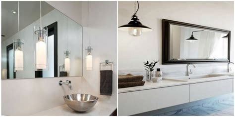 Clean Bathroom With The Right Suspension Light