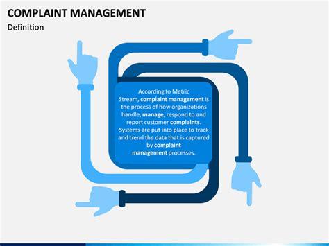 complaint management powerpoint template sketchbubble