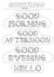 good afternoon song preschool morning greeting coloring page newcomer class ideas 229