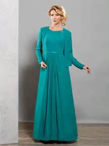 Modest plus size mother of the bride/groom dresses with jacket 2015 cap sleeves green women formal dress for wedding UO_020
