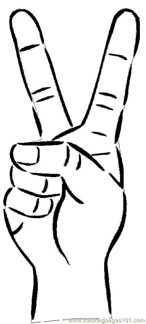 peace symbol  coloring page  body coloring pages